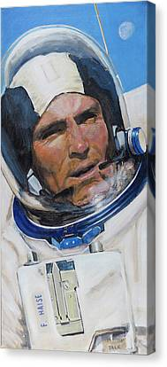 Fred Haise Canvas Print by Simon Kregar