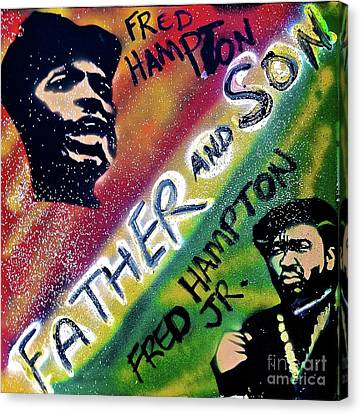 Black Panther Party Canvas Print -  Fred Hampton Father And Son by Tony B Conscious