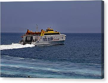 Lanzarote Canvas Print - Fred Olsen Ferry by Tony Murtagh