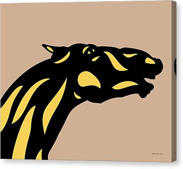 Canvas Print featuring the digital art Fred - Pop Art Horse - Black, Primrose Yellow, Hazelnut by Manuel Sueess