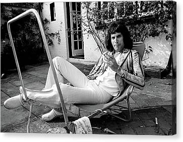 Canvas Print featuring the photograph Freddie Mercury Of Queen 1975 #3 by Chris Walter