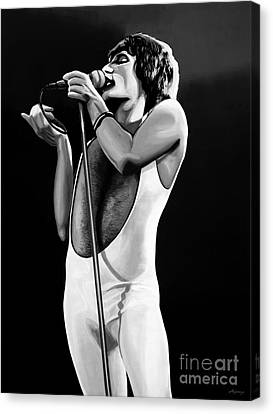 Freddie Mercury On Stage Canvas Print