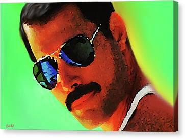 Freddie Mercury R I P  Canvas Print by Enki Art