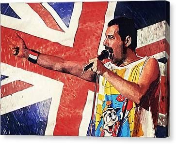 Freddie Mercury Canvas Print by Taylan Apukovska