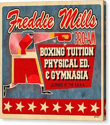 Freddie Mills Canvas Print by Daviz Industries