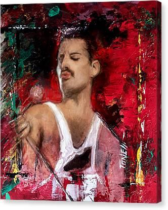 Freddie Murcury Canvas Print by Mark Tonelli