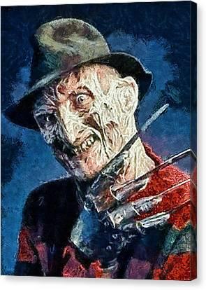 Freddy Kruegar Canvas Print by Joe Misrasi