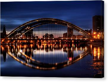 Freddy Sue Bridge Over The Genesee Canvas Print