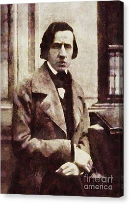 Frederic Chopin, Composer By Sarah Kirk Canvas Print by Sarah Kirk