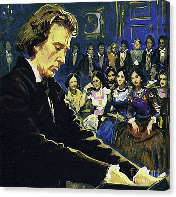 Frederic Chopin   The Tragic Genius Canvas Print by English School