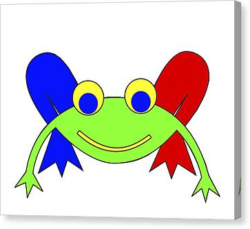 Frederic The Frog Canvas Print by Asbjorn Lonvig