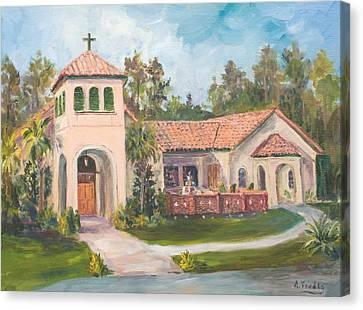 Frederica Presbyterian Church Canvas Print by Albert Fendig