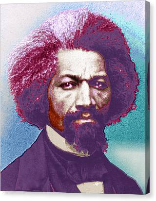 Frederick Douglass Painting In Color Pop Art Canvas Print