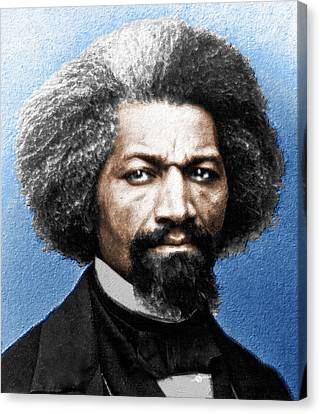 Frederick Douglass Painting In Color  Canvas Print