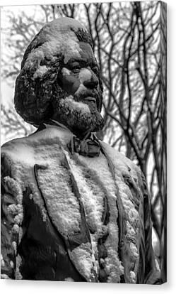 Frederick Douglass Statue Ny Historical Society Canvas Print by Robert Ullmann