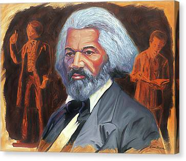 Abolitionist Canvas Print - Frederick Douglass by Steve Simon