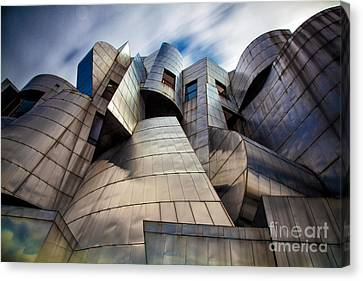 City-scapes Canvas Print - Frederick R Weisman Art Museum Minneapolis by Wayne Moran