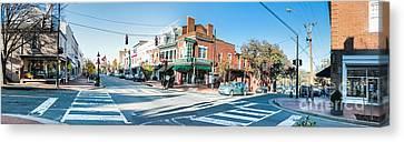 Fredricksburg Downtown Panorama Canvas Print