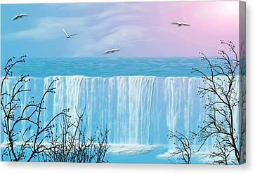 Free Falling Canvas Print by Evelyn Patrick