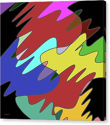 Cryptic Canvas Print - Free Flow - Digital Art by Brian Wallace
