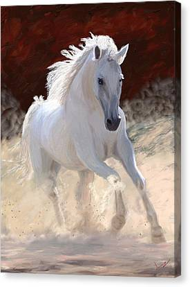 White Horses Canvas Print - Free Spirit by James Shepherd