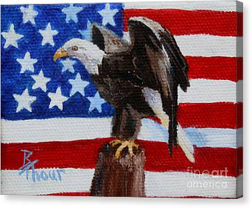Freedom Aceo Canvas Print by Brenda Thour