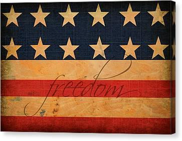 Freedom Americana Flag Canvas Print by Chastity Hoff
