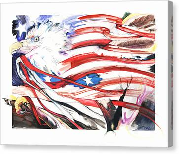 Canvas Print featuring the mixed media Freedom by Anthony Burks Sr
