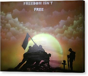 Freedom At A Cost Canvas Print