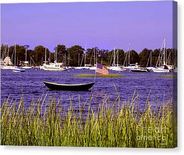 Freedom Bristol Harbor Rhode Island Canvas Print