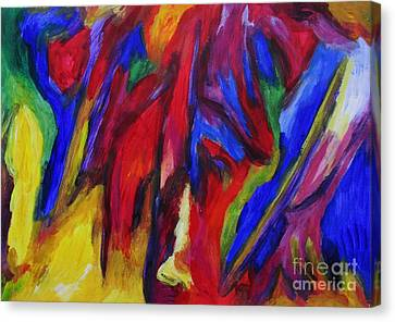 Canvas Print featuring the painting Freedom by Dianne  Connolly