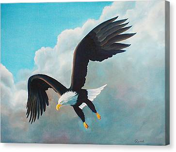 Freedom Eagle Canvas Print by Randall Brewer