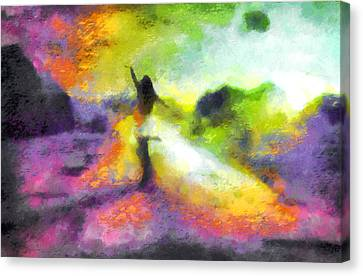 Freedom In The Rainbow Canvas Print
