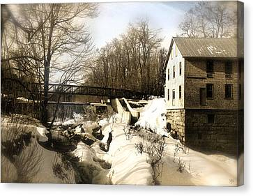 Freedom Mill Stream Canvas Print