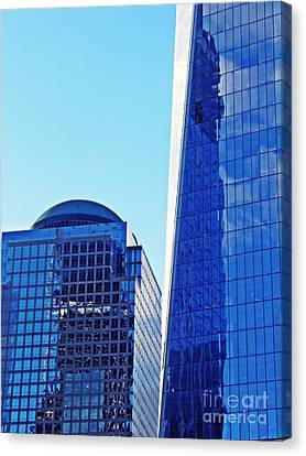 Canvas Print featuring the photograph Freedom Tower And 2 World Financial Center by Sarah Loft