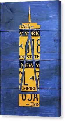 Freedom Tower World Trade Center New York City Skyscraper License Plate Art Canvas Print