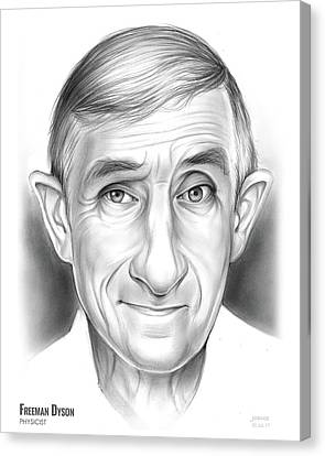 Atomic Canvas Print - Freeman Dyson by Greg Joens