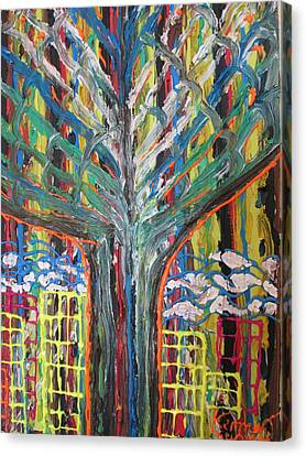 Freetown Cotton Tree - Abstract Impression Canvas Print by Mudiama Kammoh