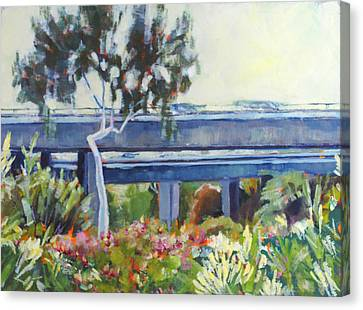 Freeway In The Garden Canvas Print