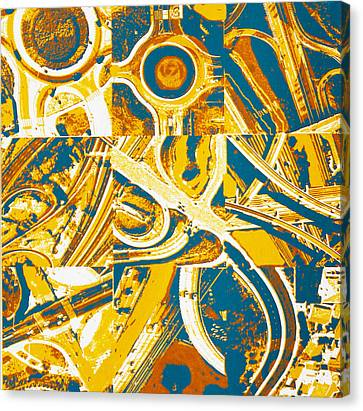Freeway Variations Canvas Print by Toni Silber-Delerive