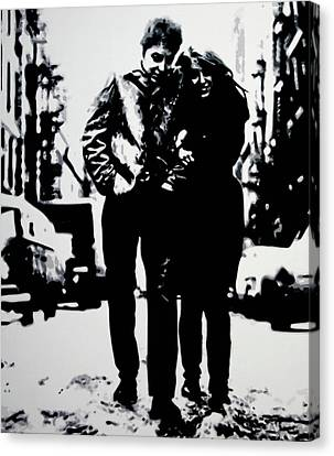 Freewheelin Canvas Print by Luis Ludzska