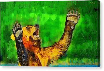 Otter Canvas Print - Freeze - Da by Leonardo Digenio