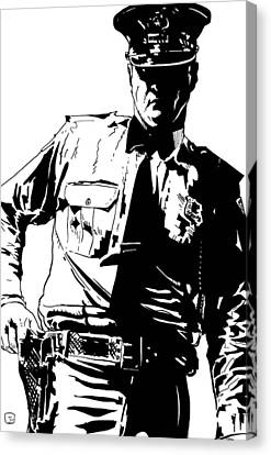 Pistol Canvas Print - Freeze by Giuseppe Cristiano