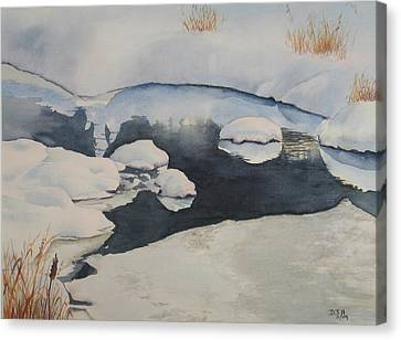 Freeze Up Canvas Print by Debbie Homewood