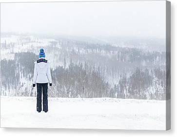 Freezing Solitude Canvas Print by Evelina Kremsdorf