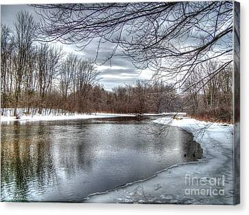 Canvas Print featuring the photograph Freezing Up by Betsy Zimmerli