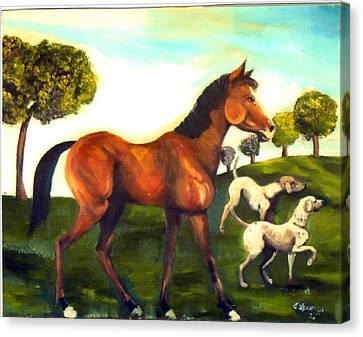 Freinds Canvas Print by Leslie Spurlock