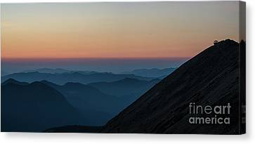 Fremont Lookout Sunset Layers Pano Canvas Print by Mike Reid
