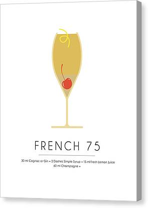 French 75 Classic Cocktail - Minimalist Print Canvas Print