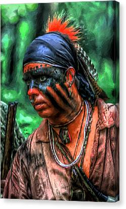 French And Indian War Indian Warrior Canvas Print by Randy Steele